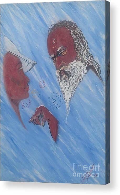 Nature Acrylic Print featuring the painting Father Time by Nathaniel Gawayne Sutton