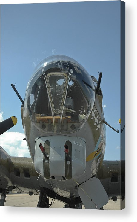 B-17 Acrylic Print featuring the photograph B-17 Nose by Steve Cost