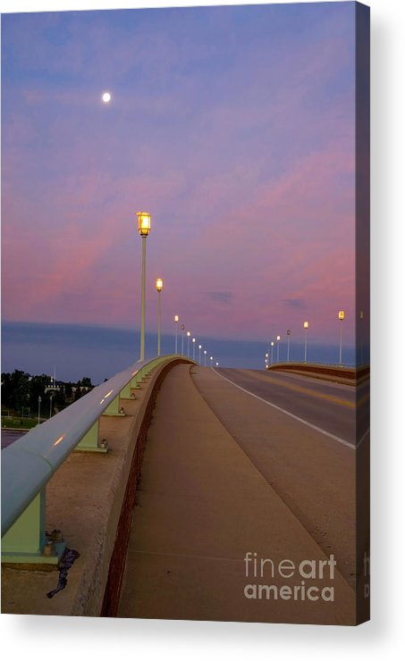 Annapolis Acrylic Print featuring the photograph Bridge To The Moon by Benjamin Reed