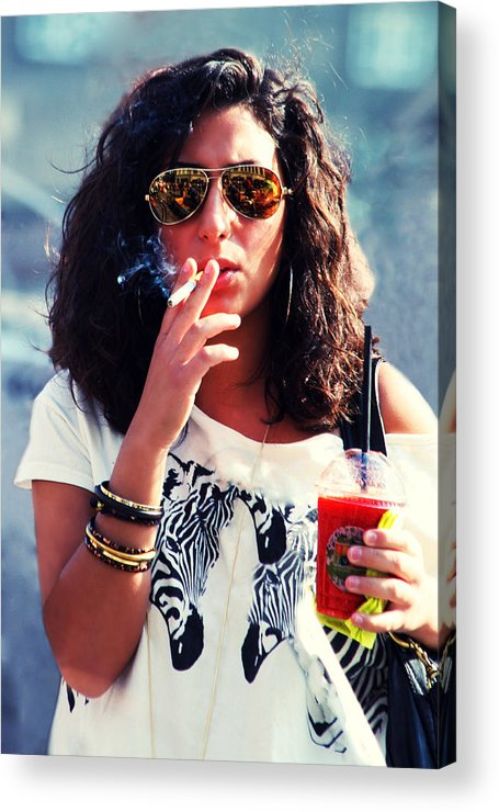 Parent Acrylic Print featuring the photograph Smoke by Kent Mathiesen