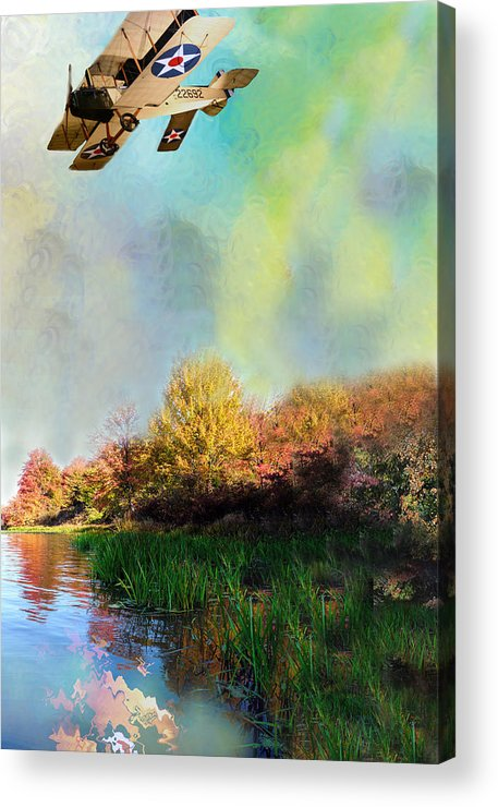 Photo Acrylic Print featuring the painting Biplane Series by Sid Katragadda