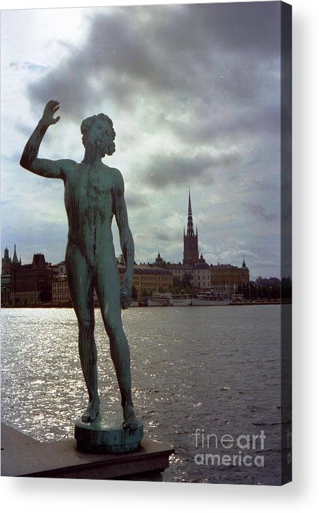 Sweden Acrylic Print featuring the photograph Stockholm Nobel Building by Ted Pollard