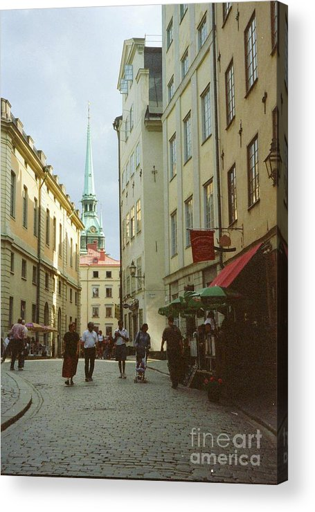 Sweden Acrylic Print featuring the photograph Stockholm City Old Town by Ted Pollard