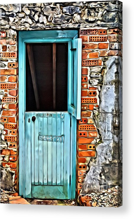 Door Acrylic Print featuring the photograph 9177 by Charles Cunningham
