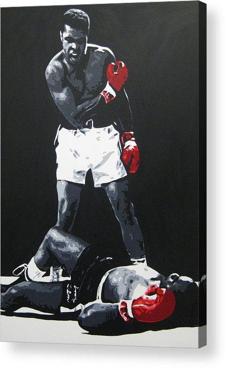 Muhammad Ali Acrylic Print featuring the painting Ali 2 by Geo Thomson