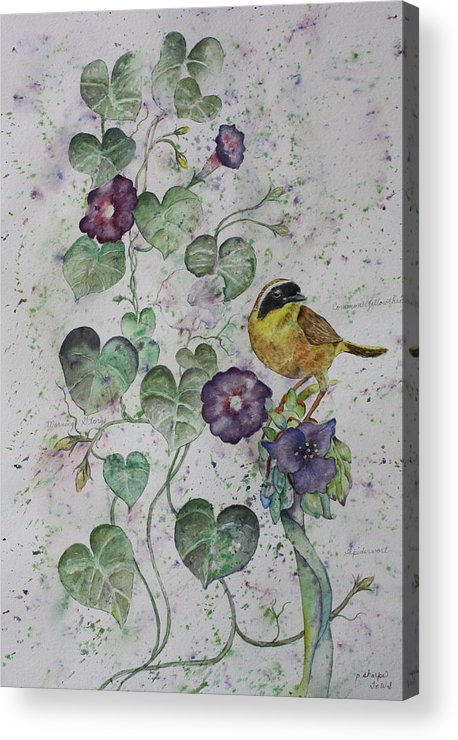 Botanical Acrylic Print featuring the painting Almost Botanical by Patsy Sharpe