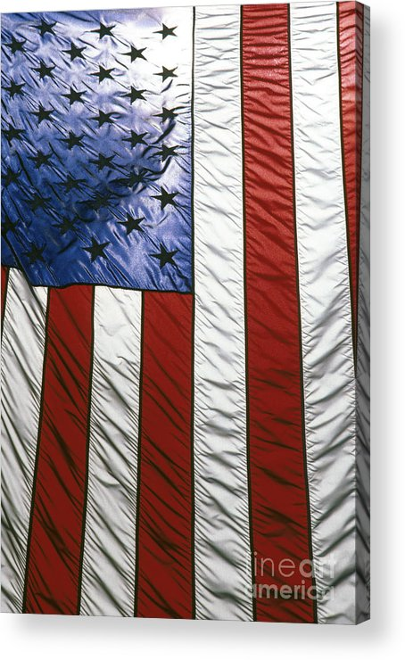 American Acrylic Print featuring the photograph American Flag by Tony Cordoza