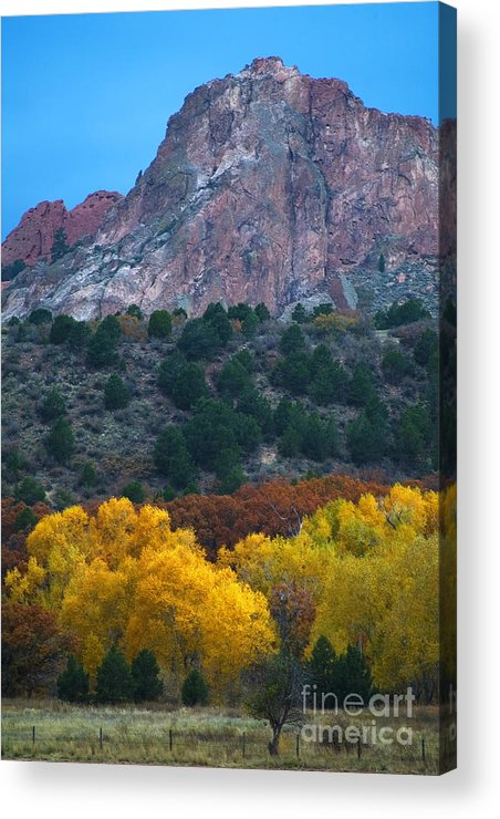 Garden Of The Gods; Autumn Acrylic Print featuring the photograph Autumn Of The Gods by Steve Krull