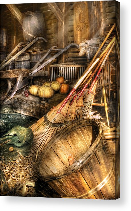 Savad Acrylic Print featuring the photograph Autumn - This Years Harvest by Mike Savad