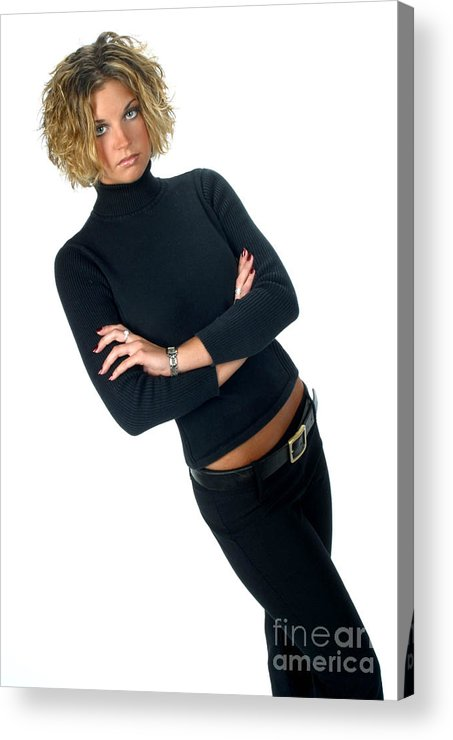 Model Acrylic Print featuring the photograph Black17 by Gary Gingrich Galleries