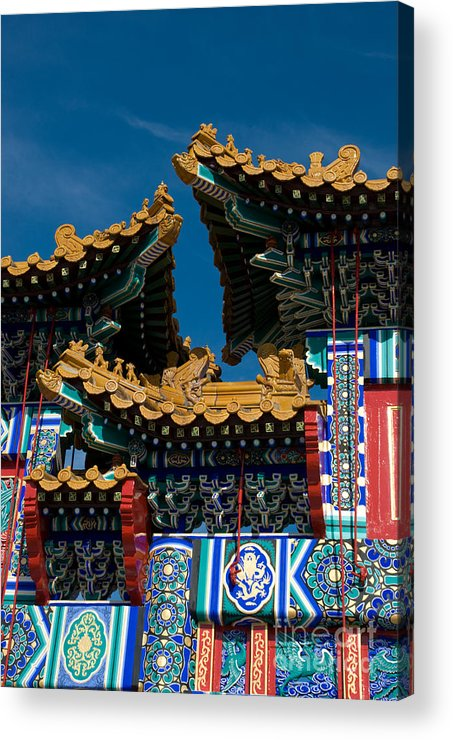 Asia Acrylic Print featuring the photograph Brilliant Blues by Venetta Archer