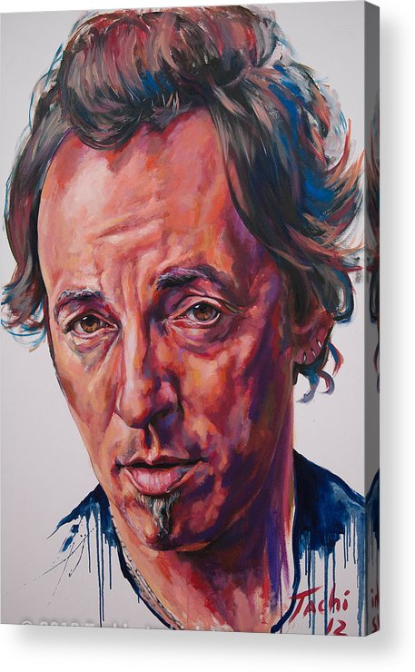 Bruce Acrylic Print featuring the painting Bruce by Tachi Pintor