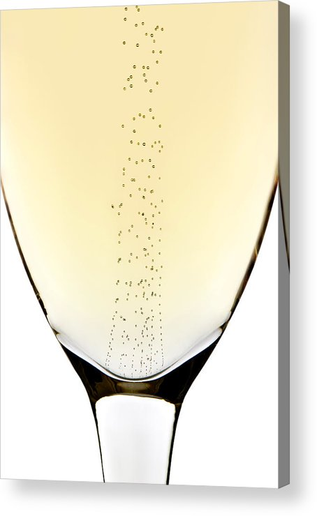 Detail Acrylic Print featuring the photograph Bubbles In Champagne by Johan Swanepoel