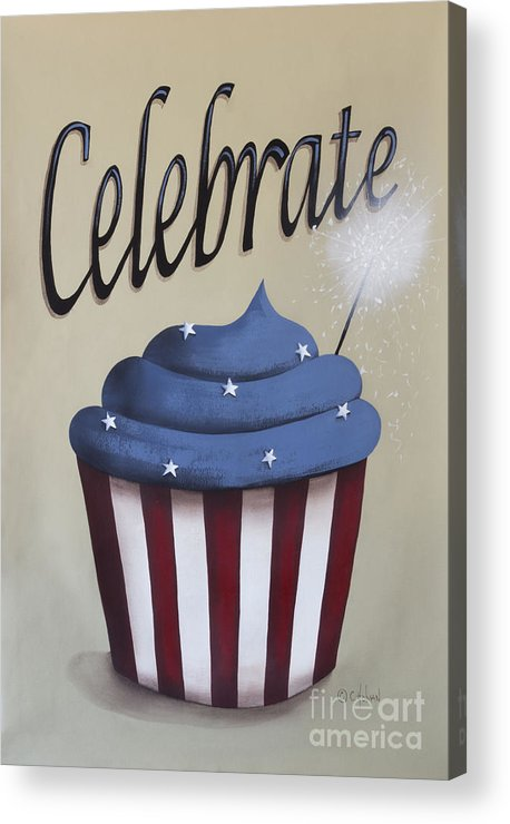 Art Acrylic Print featuring the painting Celebrate The 4th Of July by Catherine Holman