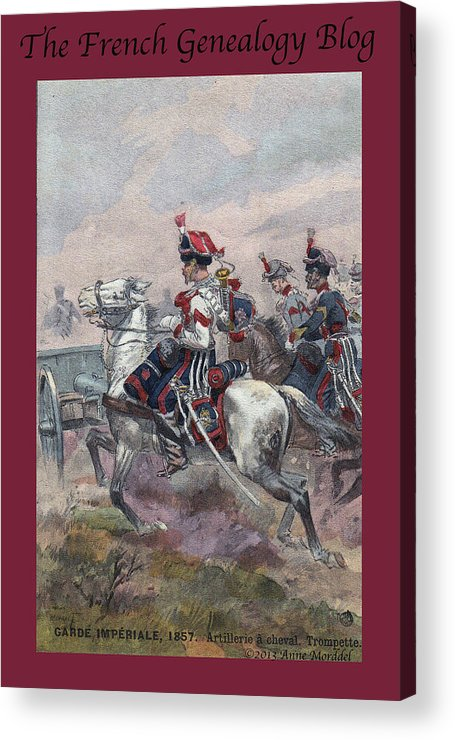 France Acrylic Print featuring the photograph Garde Imperiale 1857 With Fgb Border by A Morddel