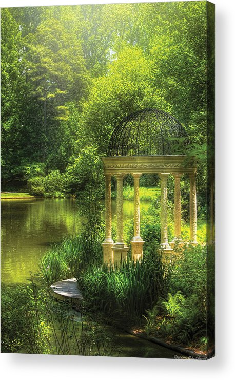 Savad Acrylic Print featuring the photograph Garden - The Temple Of Love by Mike Savad