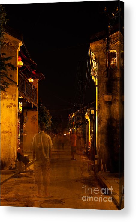 Vietnam Acrylic Print featuring the photograph Ghostly Street by Rick Piper Photography