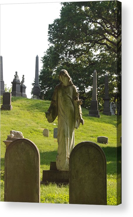 Statue Acrylic Print featuring the photograph Greenwood Cemetery by Philip Ralley