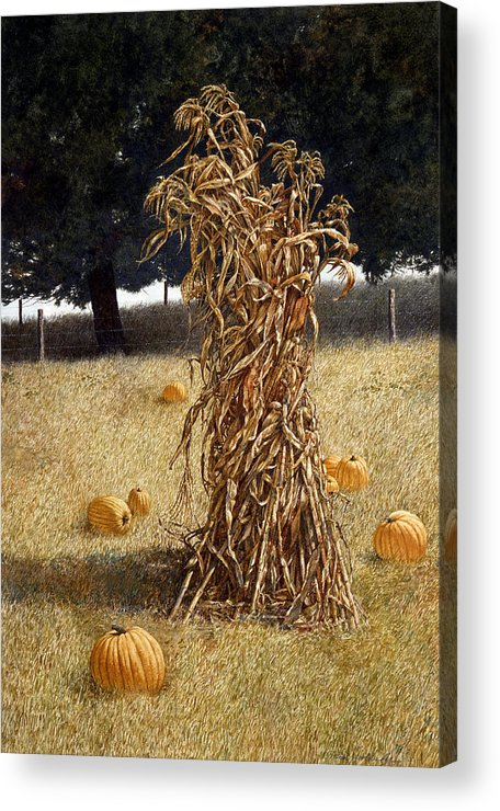 Landscape Acrylic Print featuring the painting Halloween by Tom Wooldridge