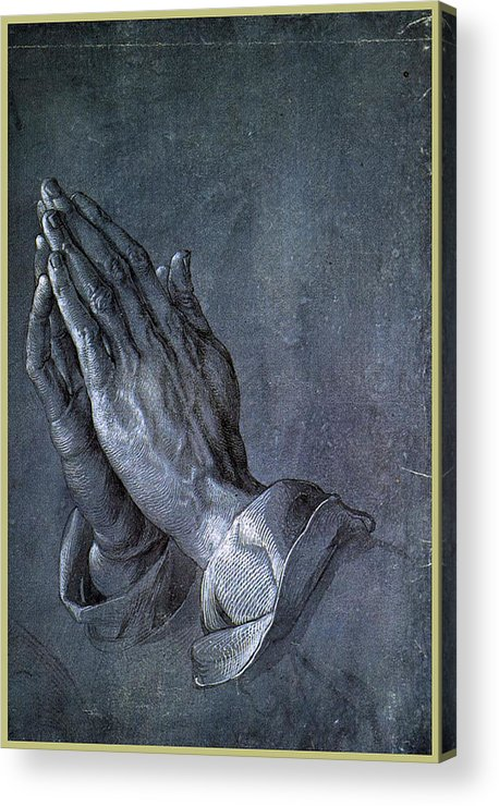 Albrecht Acrylic Print featuring the painting Hands Of An Apostle 1508 by Philip Ralley