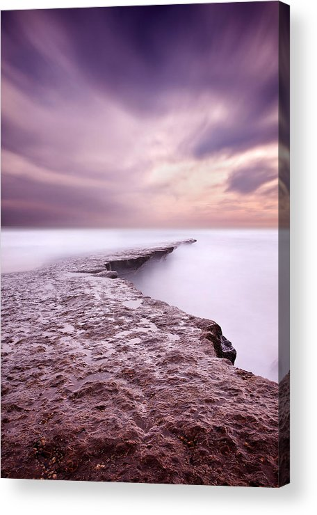 Waterscape Acrylic Print featuring the photograph Into The Ocean by Jorge Maia