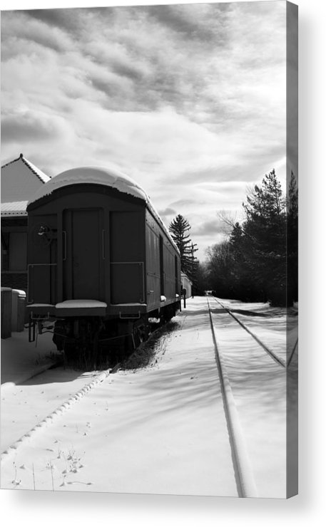 Railcar Acrylic Print featuring the photograph Last Stop by Peter Chilelli