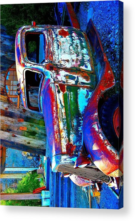 Desert Acrylic Print featuring the photograph Manipulated Truck by Steve Perry