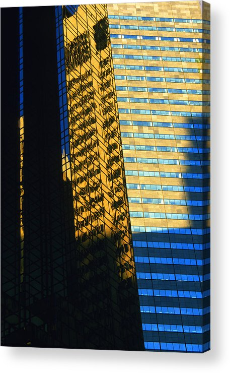 New York Acrylic Print featuring the photograph 1984 New York Architecture No2 by Gordon James
