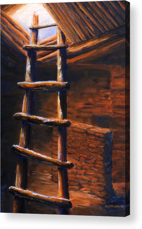 Anasazi Acrylic Print featuring the painting Passage by Jerry McElroy