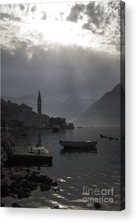 Perast Acrylic Print featuring the photograph Perast Bay by James Lavott