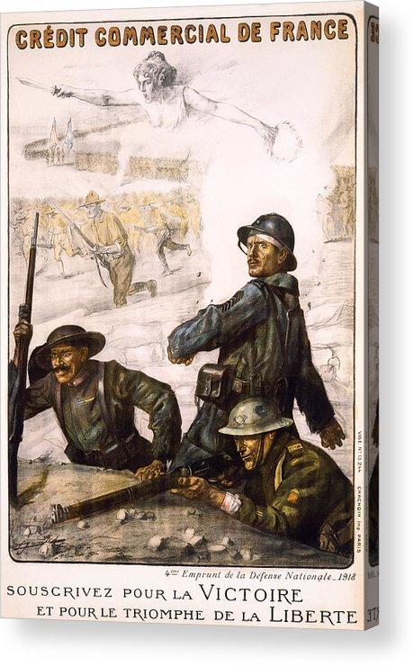 world War Acrylic Print featuring the photograph Pour La Victoire - W W 1 - 1918 by Daniel Hagerman