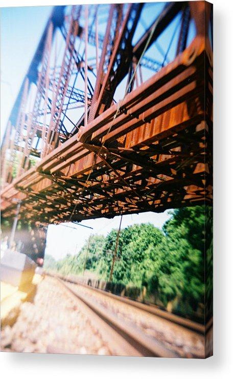 Recesky Acrylic Print featuring the photograph Recesky - Whitford Railroad Bridge by Richard Reeve