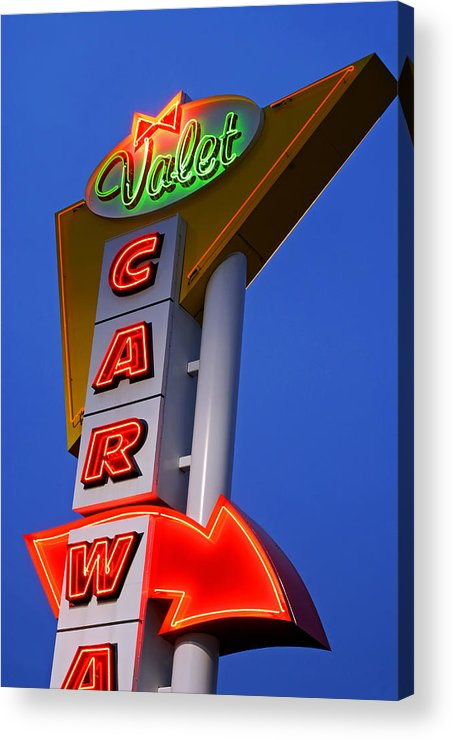 Car Wash Acrylic Print featuring the photograph Retro Car Wash Sign by Norman Pogson