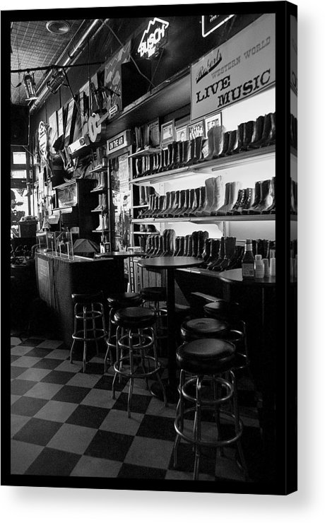 Nashville Acrylic Print featuring the photograph Roberts Western World by Sheri Bartoszek