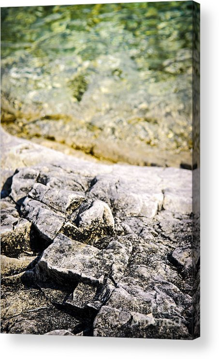 Rock Acrylic Print featuring the photograph Rocks At Georgian Bay by Elena Elisseeva