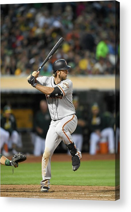 People Acrylic Print featuring the photograph San Francisco Giants V Oakland Athletics by Thearon W. Henderson