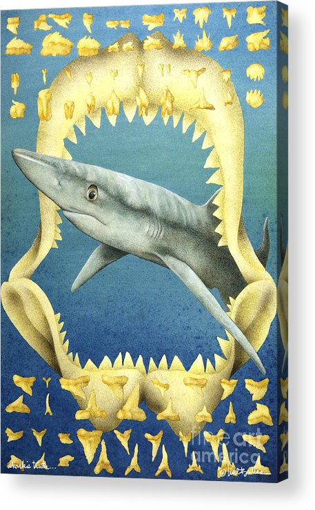 Will Bullas Acrylic Print featuring the painting Sharks Truth... by Will Bullas