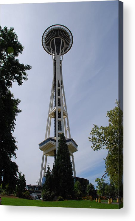Space Needle Acrylic Print featuring the photograph Space Needle by Mary Griffin