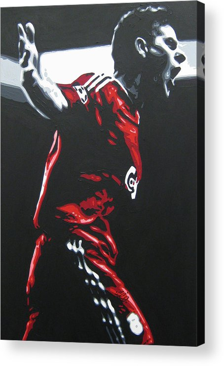 Steven Gerrard Acrylic Print featuring the painting Steven Gerrard - Liverpool Fc 2 by Geo Thomson