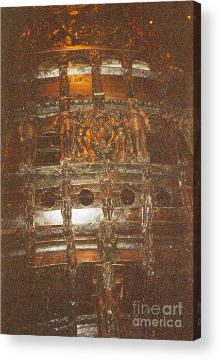 Sweden Acrylic Print featuring the photograph Stockholm History Vassa by Ted Pollard