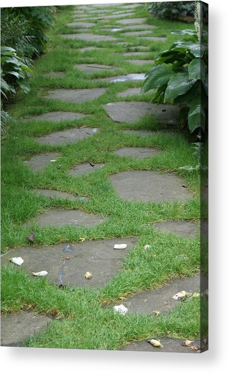 Stepping Stones Acrylic Print featuring the photograph Stone Garden Walkway by Kristen Mohr