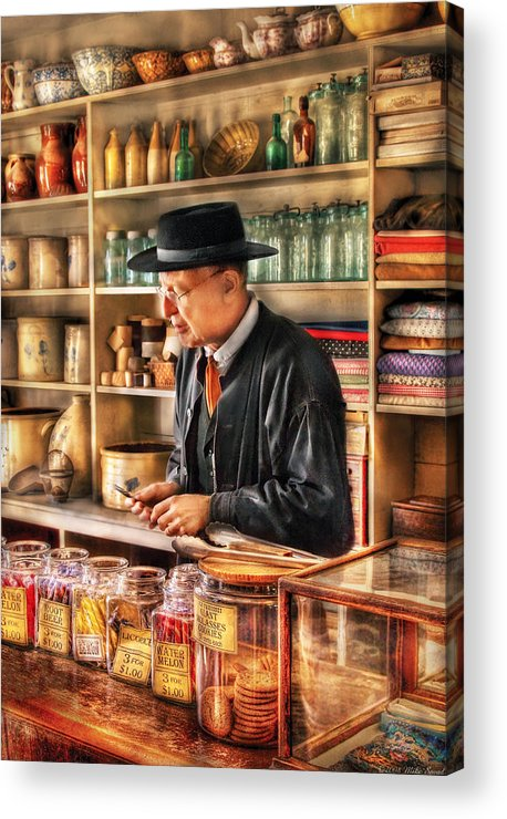 Savad Acrylic Print featuring the photograph Store - In The General Store by Mike Savad
