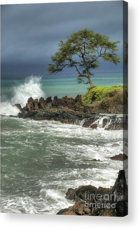 Waterscape Acrylic Print featuring the photograph Stormy Maui Morning by Sandra Bronstein