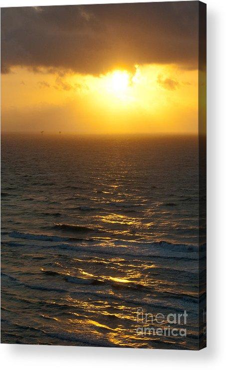 Sunrise Acrylic Print featuring the photograph Sunrise On The Gulf by Barbara Shallue