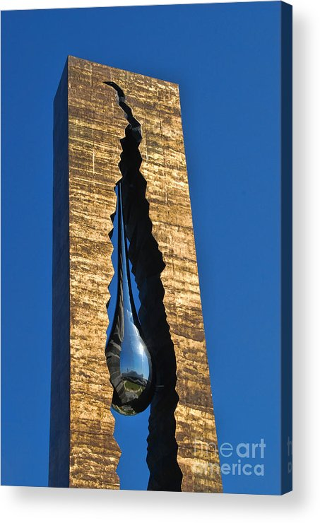 Teardrop Acrylic Print featuring the photograph Teardrop 9 - 11 Memorial Bayonne N J by Allen Beatty