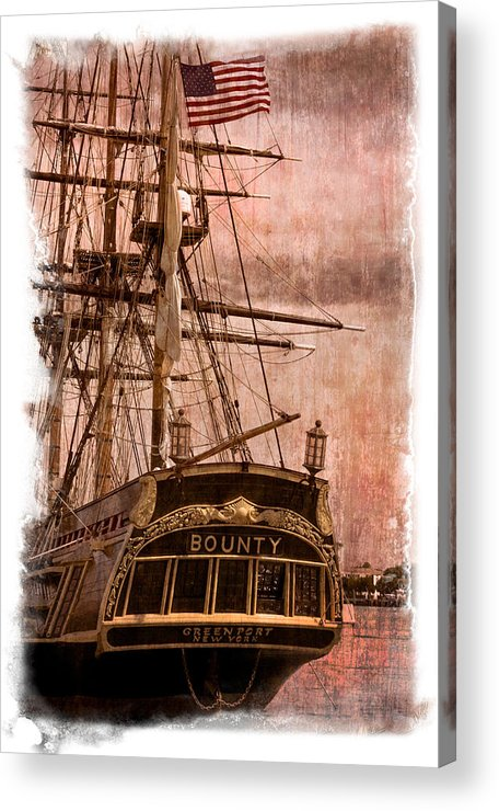 American Acrylic Print featuring the photograph The Gleaming Hull Of The Hms Bounty by Debra and Dave Vanderlaan