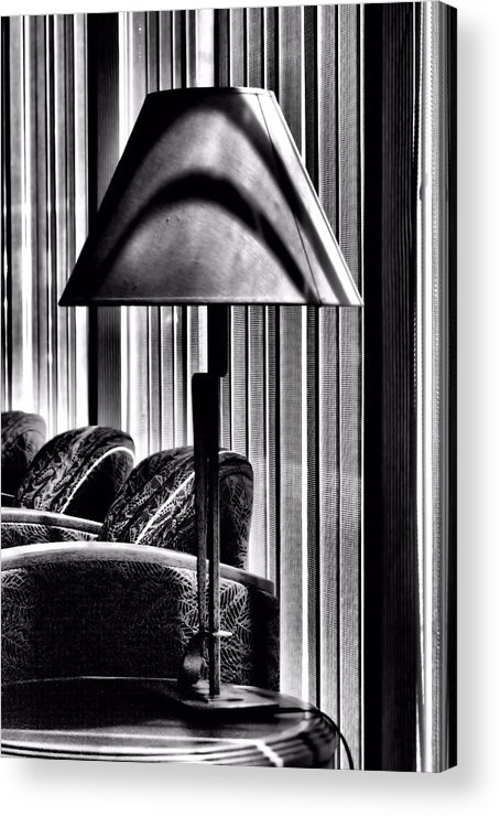 Bob Wall Acrylic Print featuring the photograph The Lamp In The Lobby by Bob Wall
