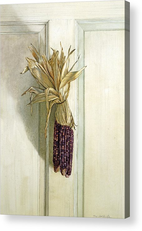 Still Life Acrylic Print featuring the painting The Offering by Tom Wooldridge