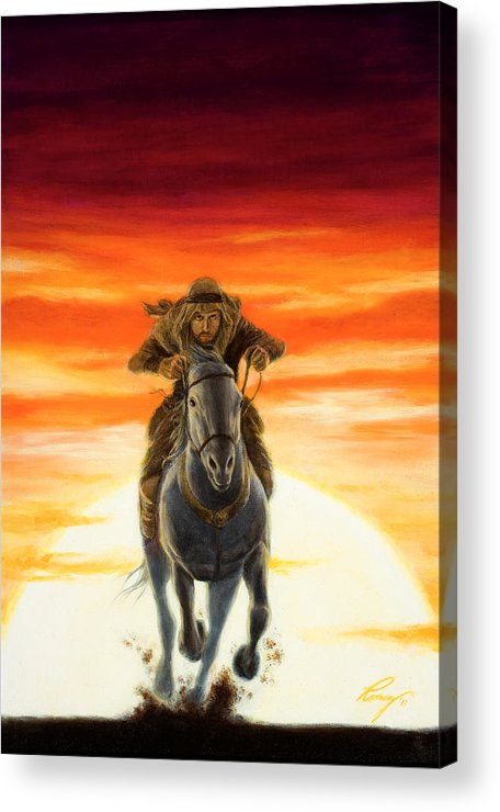 Jonah Acrylic Print featuring the painting The Rebel's Flight by Douglas Ramsey