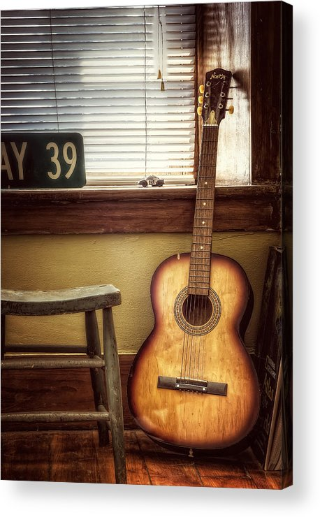 Guitar Acrylic Print featuring the photograph This Old Guitar by Scott Norris